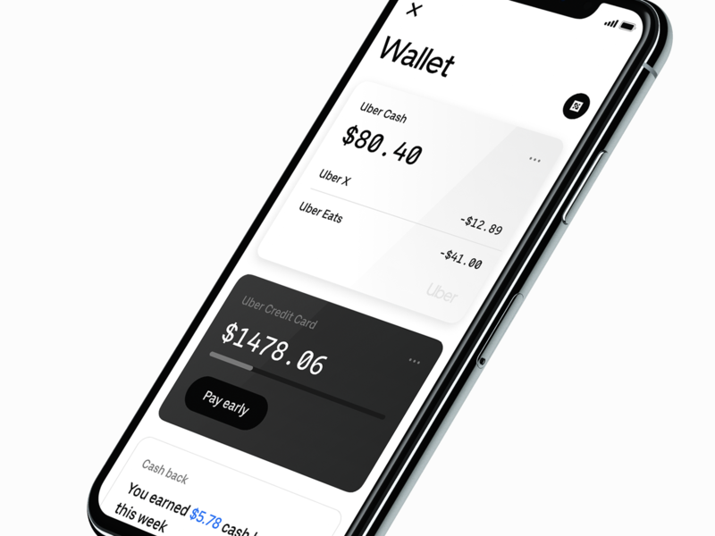 Uber Money wallet cards uber design credit card balance ios bank money uber
