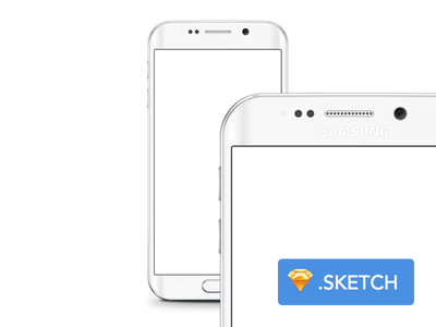 Free Galaxy S6 Edge template for Sketch download mock-up resource freebie sketch template galaxy s6 samsung