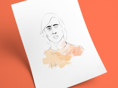 Johan Cruyff cruyff holland face draft poster wall art drawing dutch sketch portrait