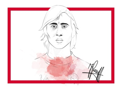 Johan Cruyff cruijff print poster soccer drawing illustration sketch portrait cruyff johan