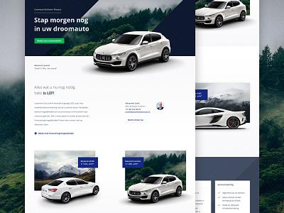 Maserati landing page ui web design clean responsive cars layout landing page webdesign website