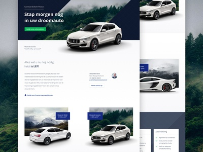 Maserati landing page ui web design clean responsive cars layout landing page webdesign website