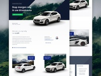 Maserati landing page