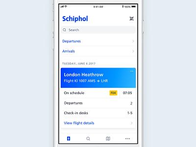 iOS 11 concept qr code schiphol ios11 airport flight boarding pass app iphone ios