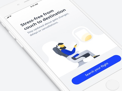 Schiphol onboarding illustrations schiphol airplane flight airport illustration onboarding app ios