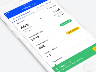 Schiphol ✈︎ flight information airlines airport ui boarding pass travel flights app ios