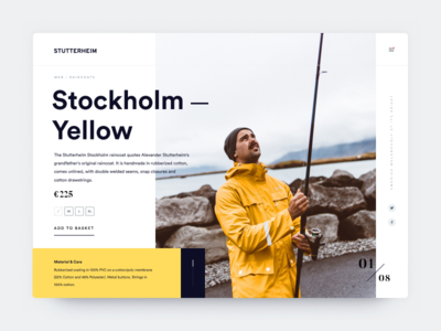 Stutterheim website concept ui shopping fisherman figma product page webdesign website stutterheim