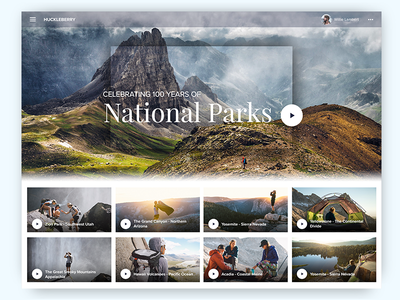 Celebrating 100 Years of National Parks acadia hawaii volcanoes the great smoky mountains yellowstone sierra yosemite the grand canyon zion national parks website social video platform