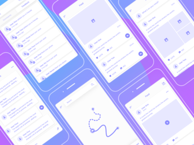Social & Maps Wireframes