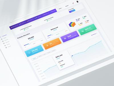 Bit Finance - Cryptocurrency Dashboard interface ico gradient ui kit wallet app website web portfolio wallet investment design system uiux ui trade minning cryptocurrency exchange cryptocurrency app dashboard