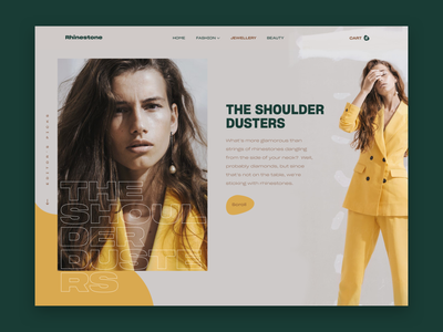 Jewellery Store • Product Page 💍💛 shopping beauty fashion women ring green yellow femenine modern website ux ui jewellery home page ecommerce store product page typography