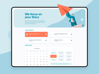 Accounting Appointment • Form Page  🗓 form field booking services business illustration app modern clean ux ui accounting software forms dashboard submission calendar date form accounting