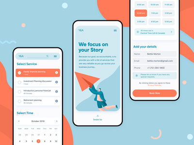 Form Screen • Accounting Appointment finance service form field date picker timezone time date calendar dashboard clean modern app ux ui appointment responsive website mobile ui form accounting