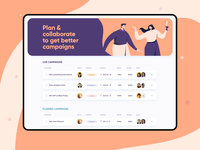 Marketing Campaigns Planning • Web App