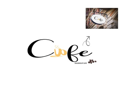 Golden Cafe logo design logo ux ui branding design illustration graphicsdesign illustrator