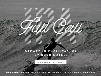Full Cali IPA Beer