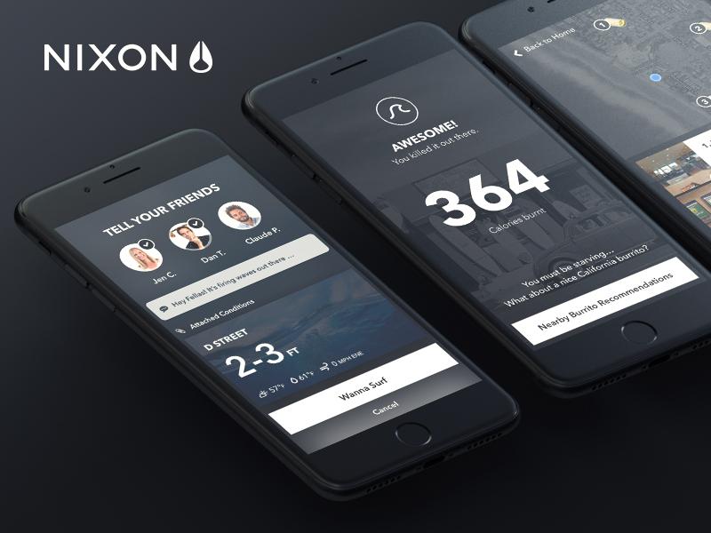 Nixon live watch ux ui black experience prototype xd flow design app ios