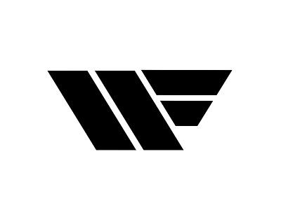 W Logo Concept 3 minimal w f letters wings modern stripes