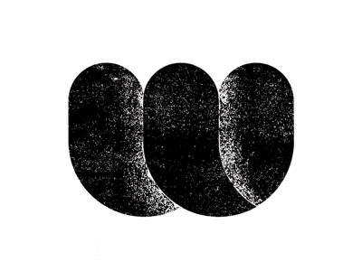 W Logo Concept 4 w texture round bubble