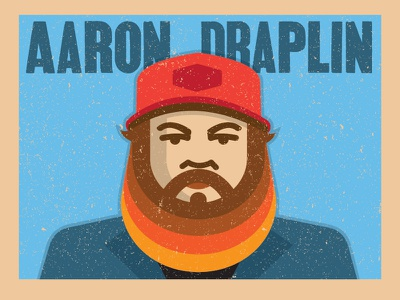 Aaron Draplin portrait illustration browns retro
