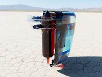 Glass Turbine 3D Render