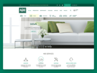 Homepage for a furniture store