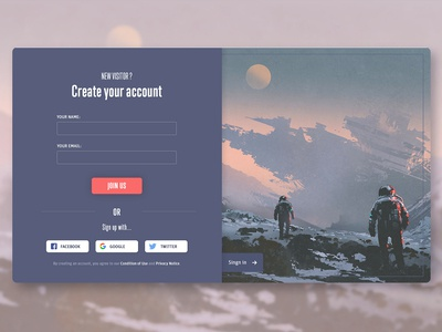 Sing Up Page - Daily UI