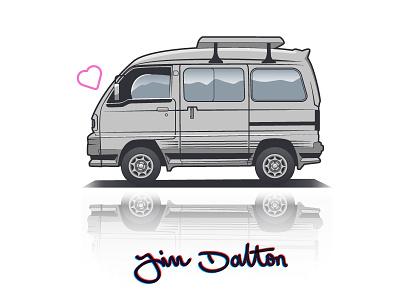 Mini Minto Illustration van kei illustration jdm (haggard racing co) (haggard garage)