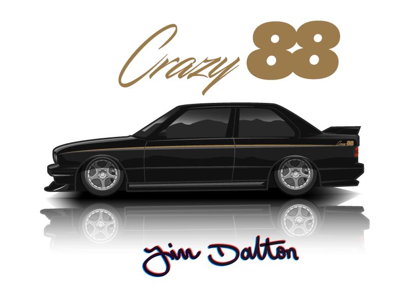 Crazy88 E30 M3 Illustration By James Dalton Dribbble Dribbble