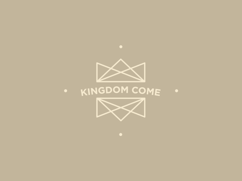 Kingdom Come illustration crown logo chiasm symmetry center line art logo monoline kingdom crown