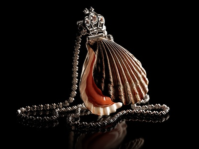 Food is a New Luxury zbrush corona render 3d jewelry luxury crown food sea scallop