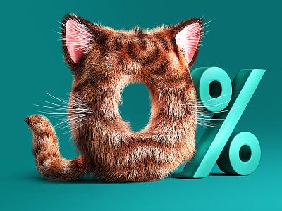 fur zero corona 3d render cat percent zero fur