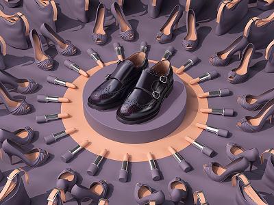 Magnetism shop photo 3d woman magnet bag lipstic shoes