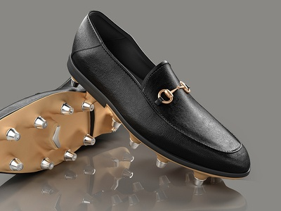 Gucci soccer illustration render 3d shoes soccer gucci