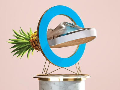 Globus Pineapple vans octane render circle pinapple print ad