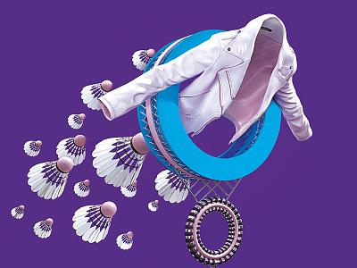 Globus Jacket reserved circle shuttlecock fashion octane render globus