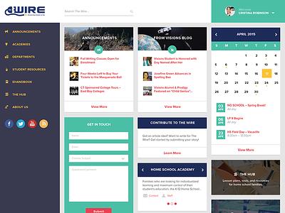 The Wire - Homepage digital gear dashboard web design homepage proxima nova flat calendar widgets posts search user