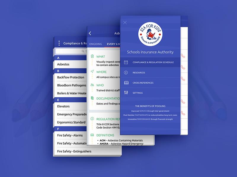 SIA Compliance and Regulation App ubuntu ui regulation compliance iphone ios itunes android design app insurance school