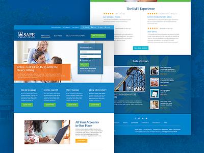 SAFE Credit Union web design investing loans mortgages credit cards sacramento banking credit union