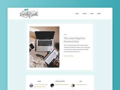 The Lovely Geek 2018 ux ui flat lifestyle wordpress theme design blog