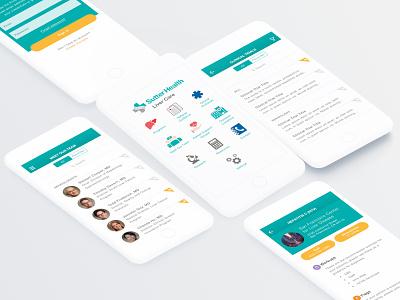 Sutter Health Liver Care App ui  ux design transplant doctors medical liver iphone app design android ios app health ux ui