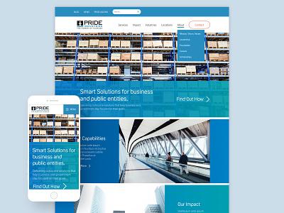 PRIDE Industries wordpress desktop blue veterans disabilities oscine gradients mobile web design ux ui design responsive website