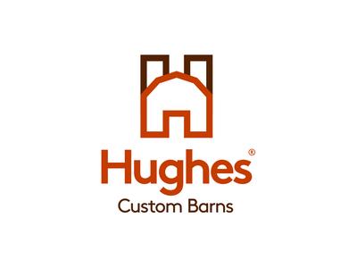 Hughes Barns –Logo Design barn letter branding logos identity illustration brand logo design typography icon logo