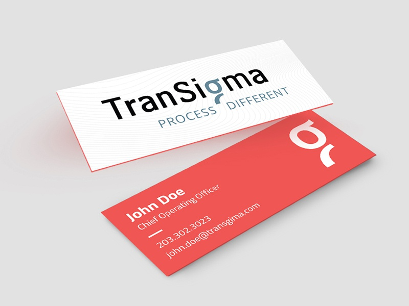 Slim Business Card print color design typography business card