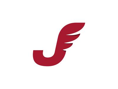 """Winged J"" Logo for Joseph Germani"