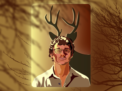 Shasta / fan art Hannibal hannibal will graham film fan art graphic design clean ui minimal illustration artist vector design