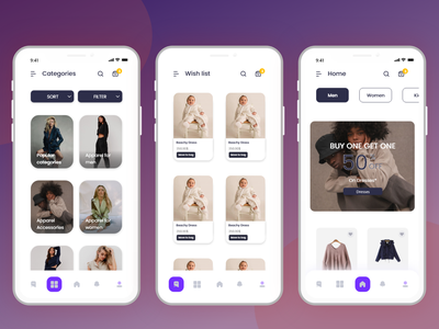 E-commerce app dribble ux ui design app