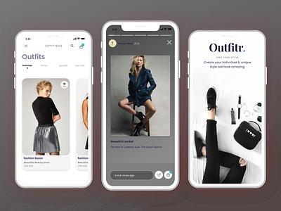 E-commerce  app design ux ui dribble app