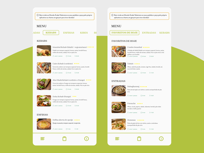 daily ui 043 + 044 - drink menu + favorites dailyui044 dailyui043 ui design dailyui