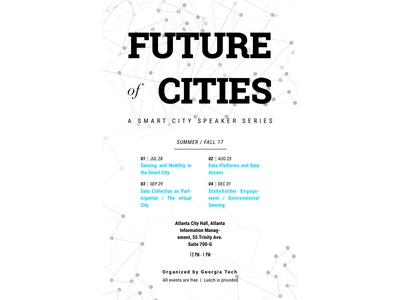 """""""Future of Cities"""" speaker series, poster iteration poster collection poster challenge type typography vector poster design illustration branding"""